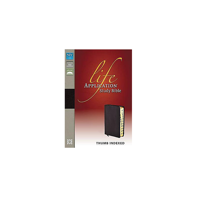 NIV, Life Application Study Bible, Bonded Leather, Burgundy, Indexed, Red Letter Edition