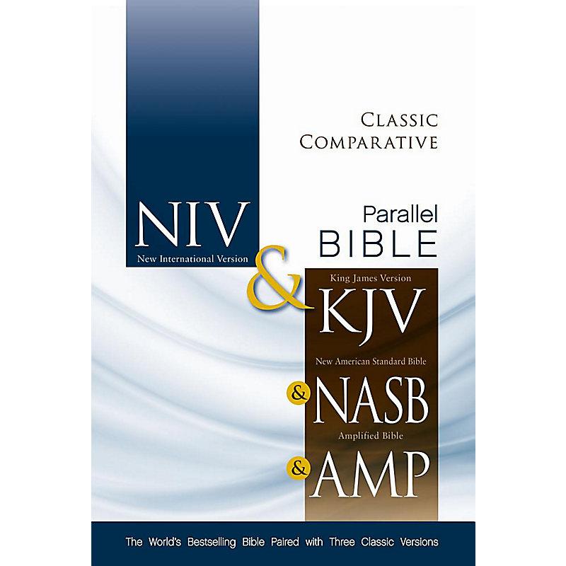 Niv Kjv Nasb Amplified Classic Comparative Parallel Bible Hardcover Lifeway