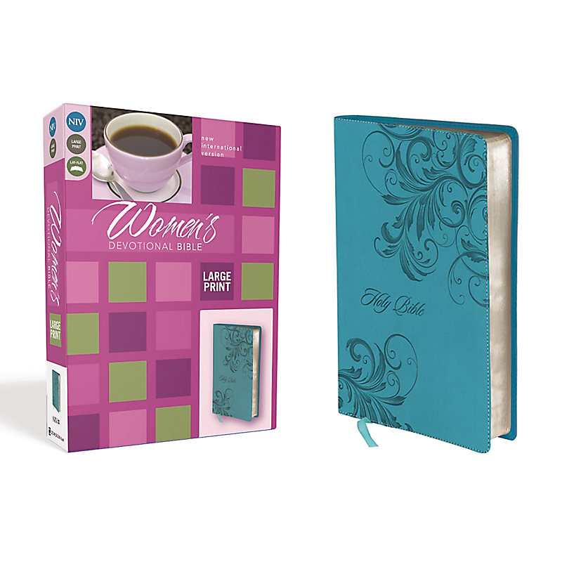 NIV, Women's Devotional Bible, Large Print, Leathersoft, Blue