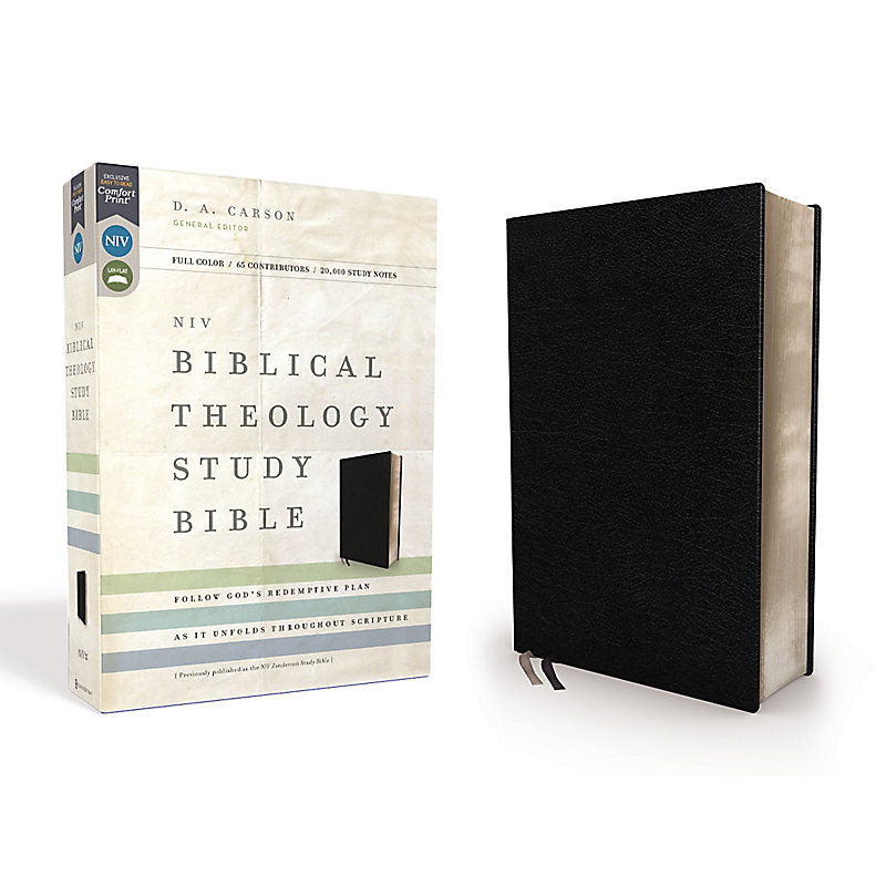 NIV, Biblical Theology Study Bible, Bonded Leather, Black, Indexed, Comfort Print
