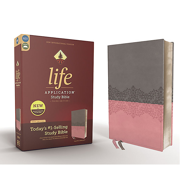 NIV Life Application Study Bible, Third Edition, Leathersoft, Pink