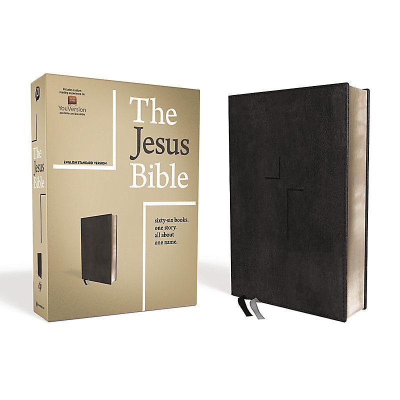 The Jesus Bible, ESV Edition, Leathersoft, Black