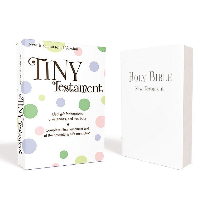 NIV, Tiny Testament Bible: New Testament, Leathersoft, White
