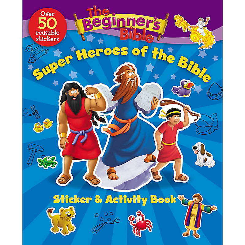 The Beginner's Bible: Super Heroes of the Bible Sticker and Activity Book
