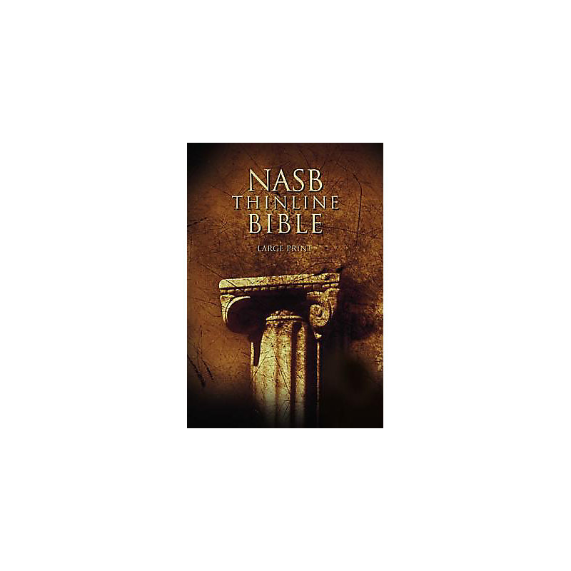 Nasb thinline bible large print hardcover red letter for New american standard bible red letter edition