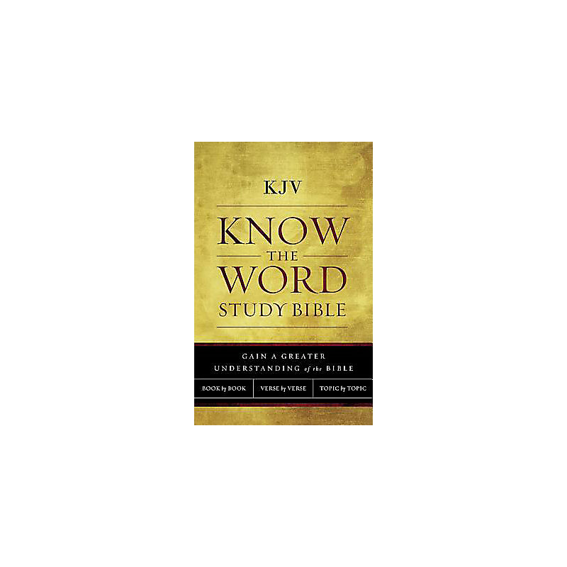 KJV, Know The Word Study Bible, Paperback, Red Letter Edition