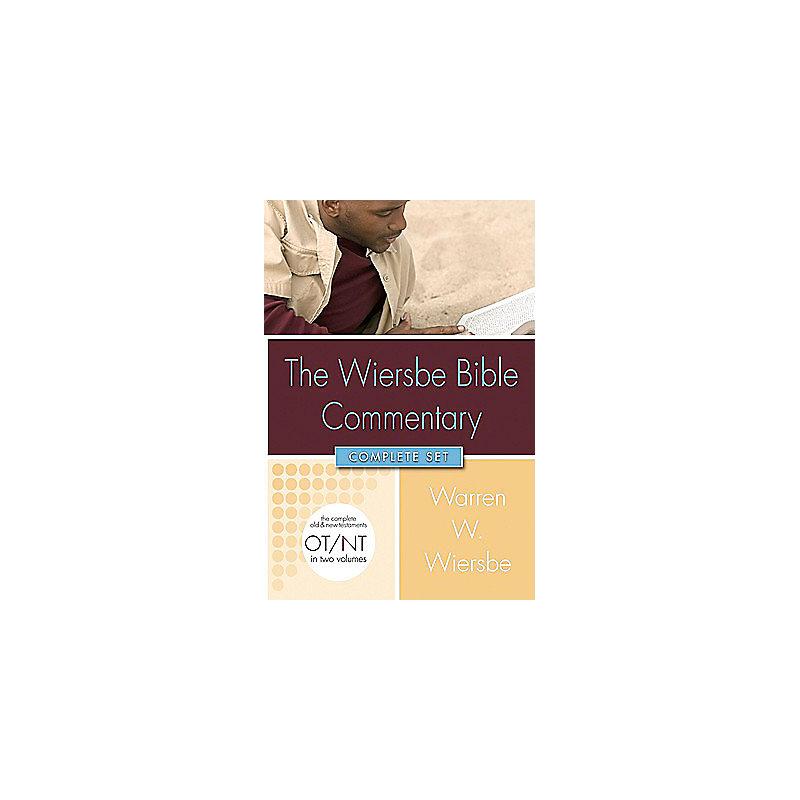 Wiersbe Bible Commentary 2 Vol Set w/CD Rom