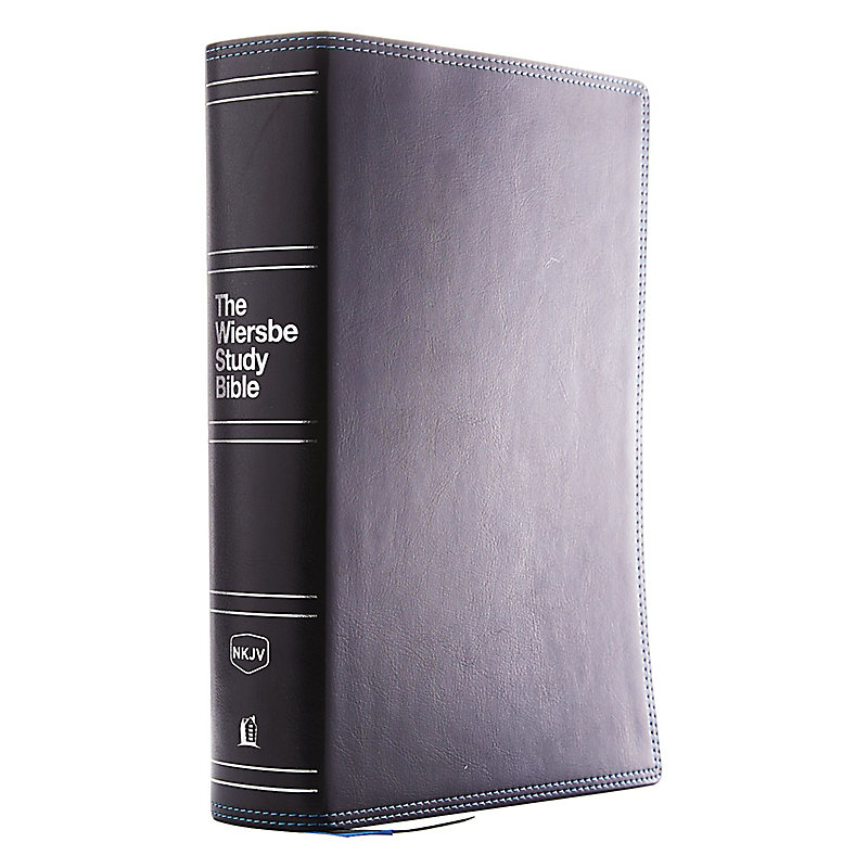 NKJV, Wiersbe Study Bible, Leathersoft, Black, Indexed, Red Letter Edition, Comfort Print