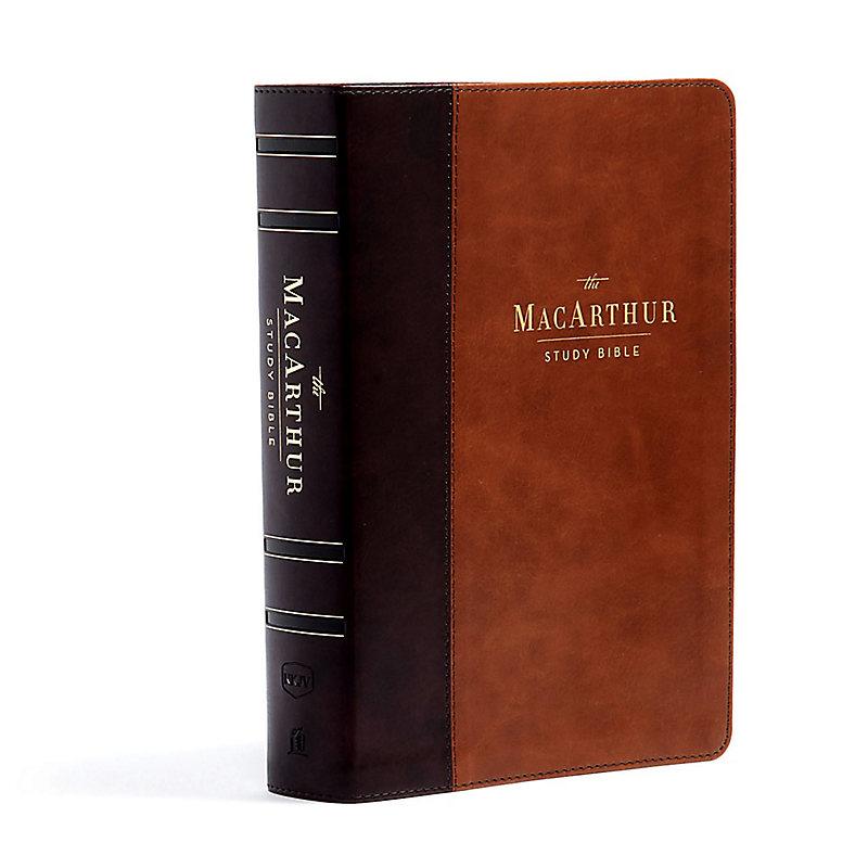 NKJV, MacArthur Study Bible, 2nd Edition, Leathersoft, Brown, Comfort Print