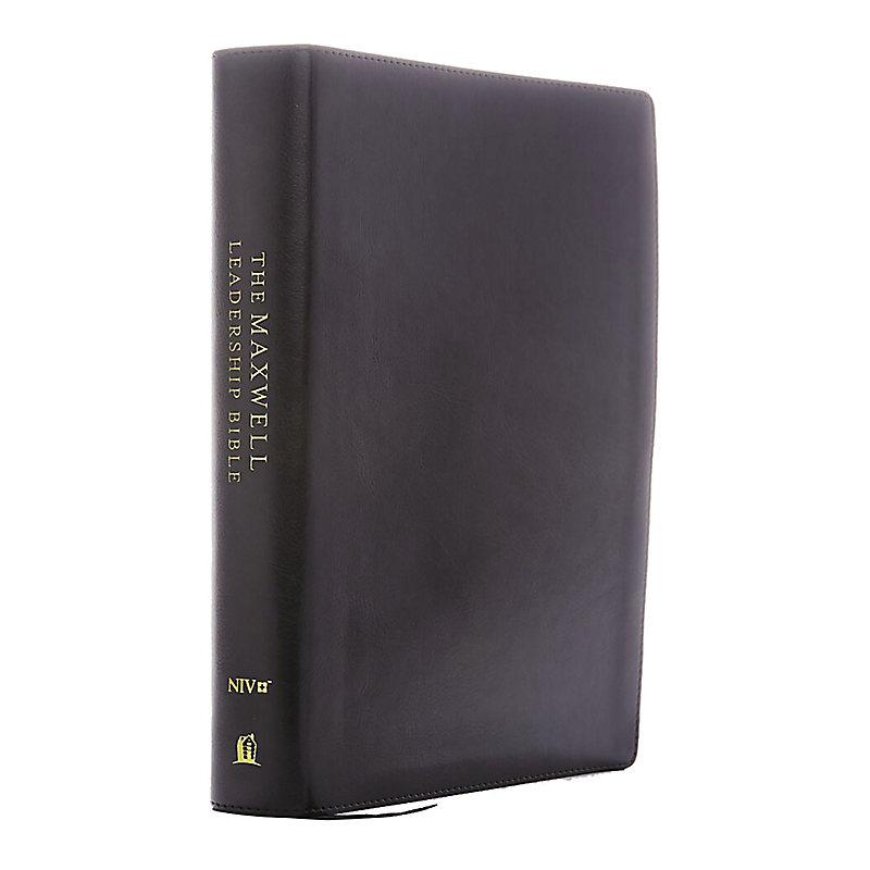 NIV, Maxwell Leadership Bible, 3rd Edition, Premium Bonded Leather, Burgundy, Comfort Print