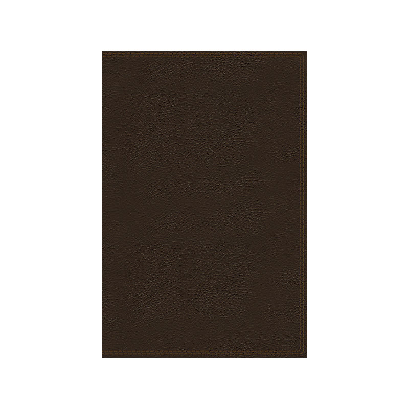 NKJV Charles F. Stanley Life Principles Bible, 2nd Edition, Genuine Leather, Brown, Indexed, Comfort Print