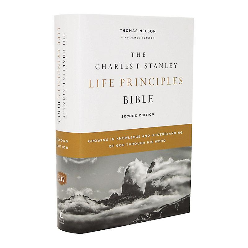 KJV Charles F. Stanley Life Principles Bible, 2nd Edition, Hardcover, Comfort Print