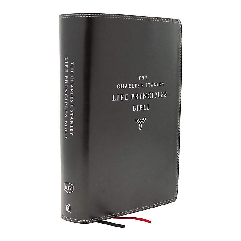 KJV Charles F. Stanley Life Principles Bible, 2nd Edition, Leathersoft, Black, Comfort Print