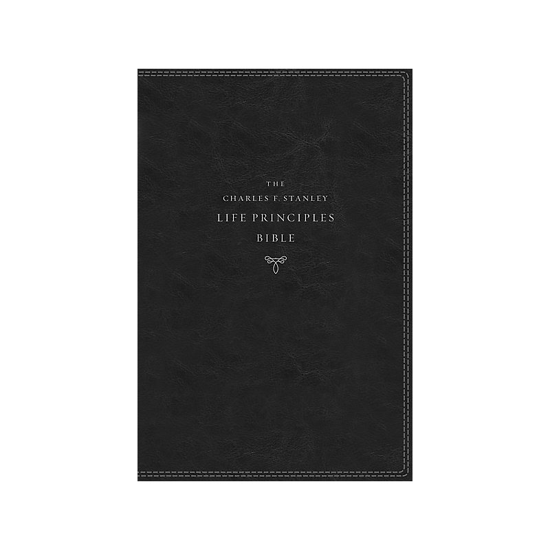 KJV Charles F. Stanley Life Principles Bible, 2nd Edition, Leathersoft, Black, Indexed, Comfort Print
