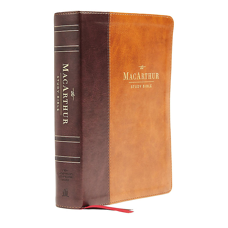 NASB, MacArthur Study Bible, 2nd Edition, Leathersoft, Brown, Comfort Print