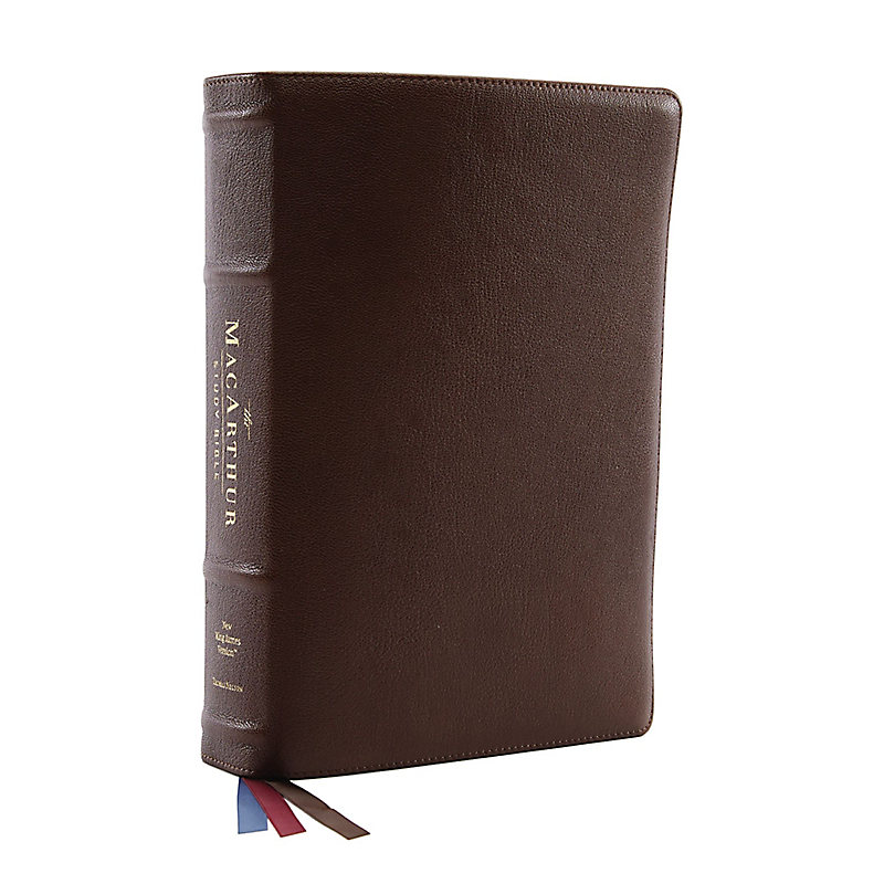 NKJV MacArthur Study Bible, 2nd Edition, Genuine Leather, Brown, Comfort Print