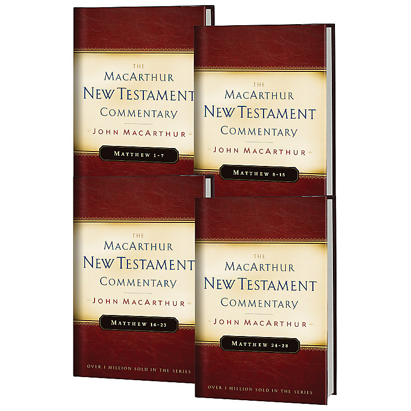 Matthew 1-28 MacArthur New Testament Commentary Four Volume Set