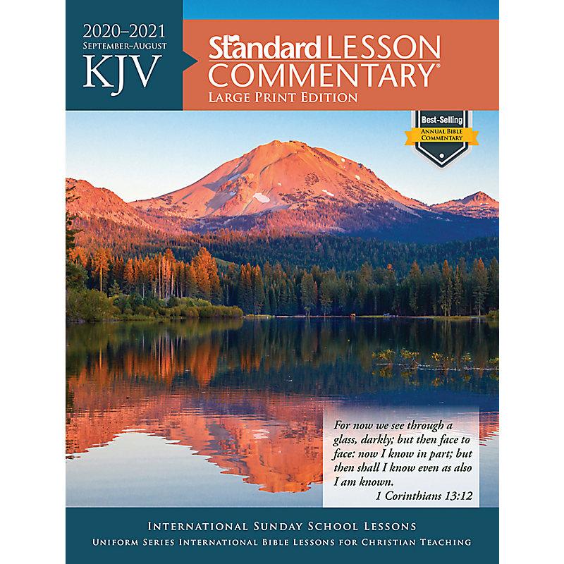 Best Study Bible 2021 David C Cook KJV Standard Lesson Commentary® Large Print Edition