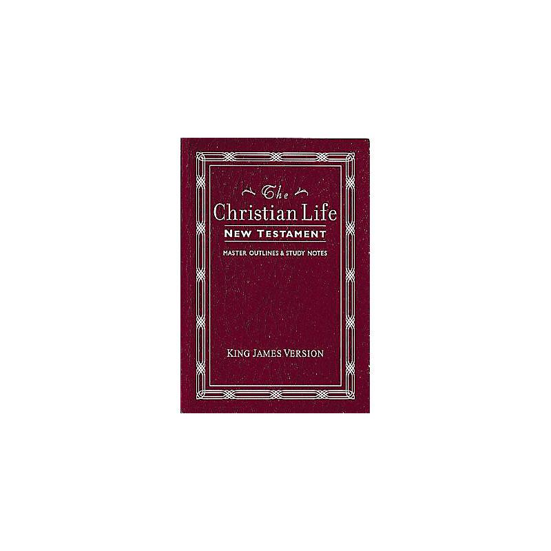 KJV, The Christian Life New Testament, Leathersoft, Burgundy
