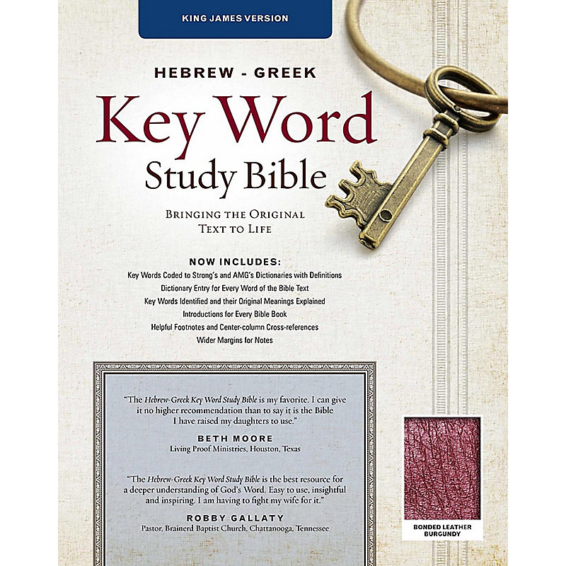 Hebrew-Greek Key Word Study Bible - KJV (Burgundy/Tan)