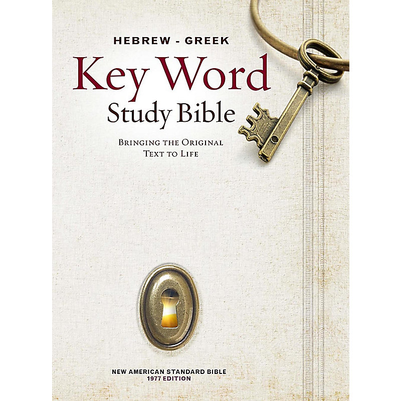 Hebrew-Greek Key Word Study Bible: New American Standard Bible (Blue/Gray)
