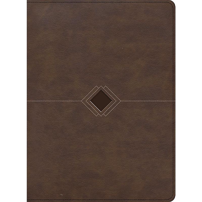 RVR 1960 Biblia cronológica, día por día, marrón símil piel