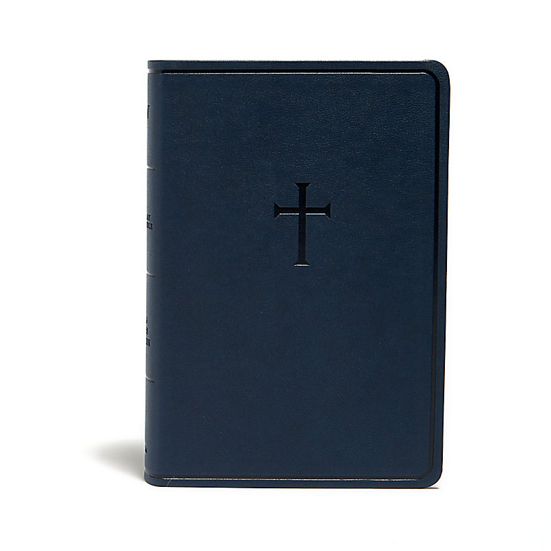 KJV Everyday Study Bible, Navy Cross LeatherTouch