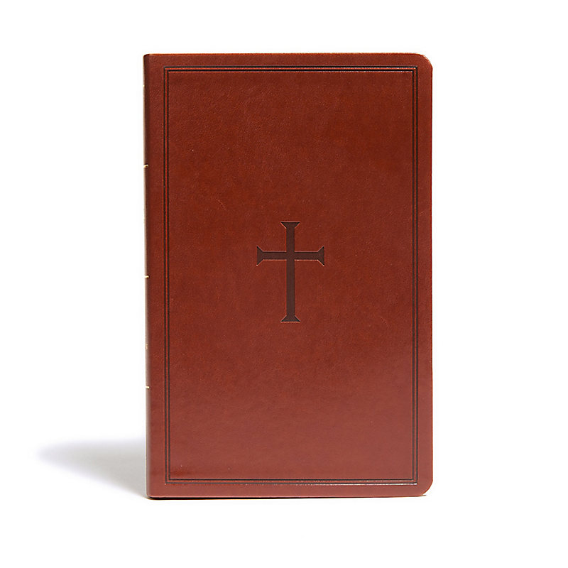KJV Ultrathin Reference Bible, Brown LeatherTouch, Indexed