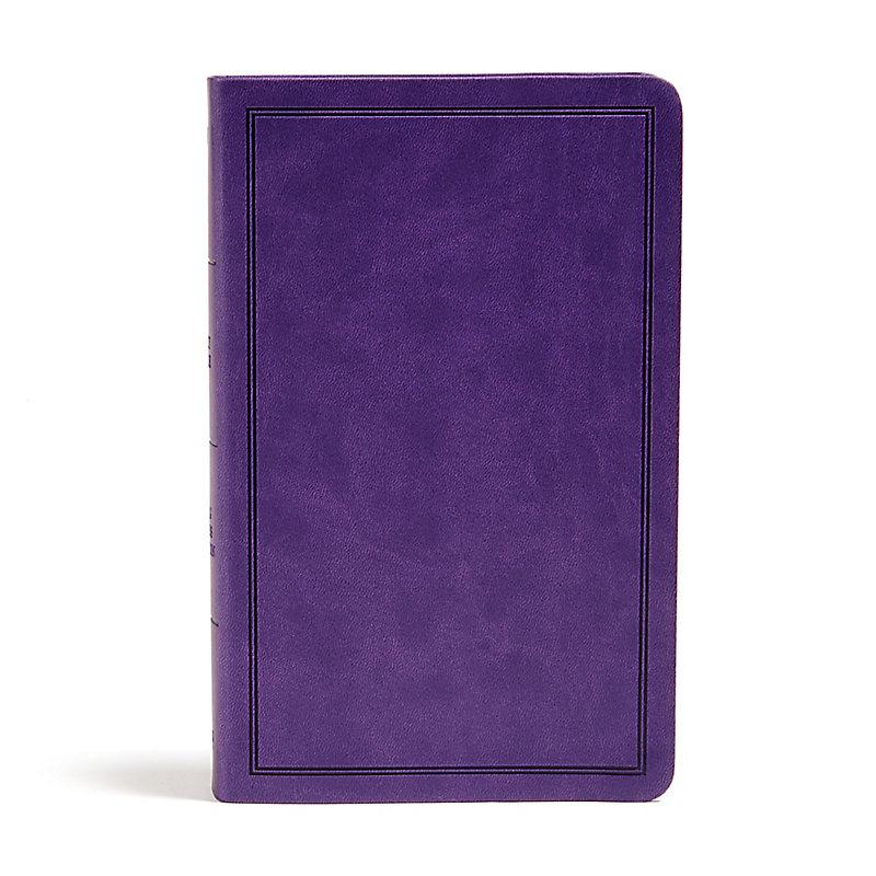 KJV Deluxe Gift Bible, Purple LeatherTouch