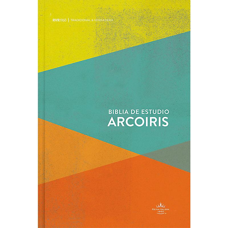 RVR 1960 Biblia de Estudio Arcoiris, multicolor tapa dura