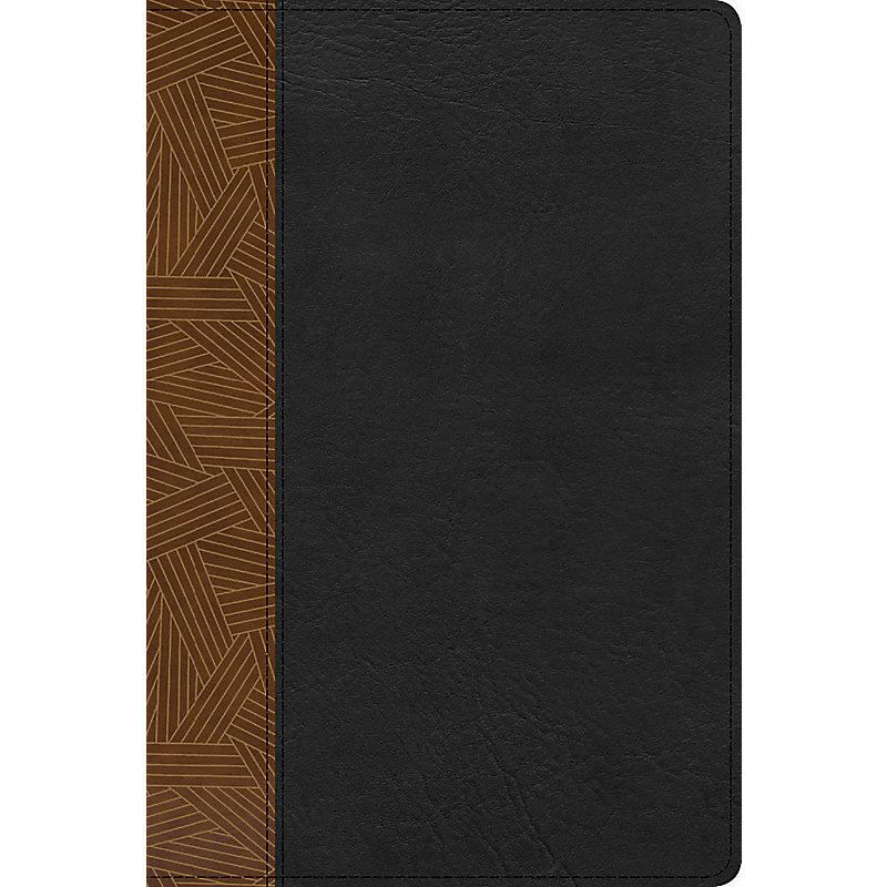 RVR 1960 Biblia de Estudio Arcoiris, tostado/negro símil piel con índice