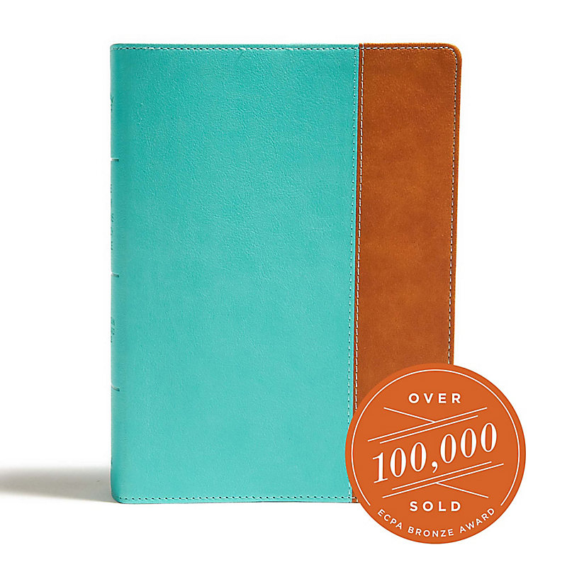 CSB Tony Evans Study Bible, Teal/Earth LeatherTouch, Indexed