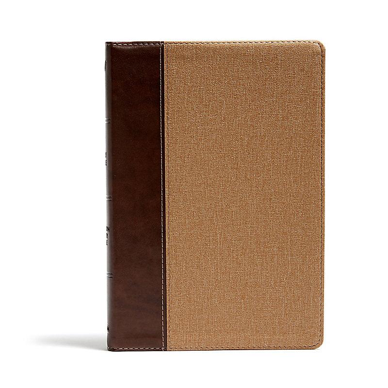 KJV Rainbow Study Bible, Brown/Tan LeatherTouch