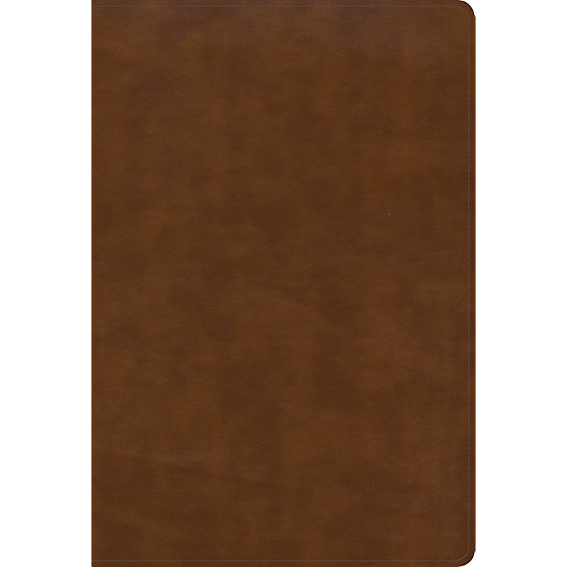 KJV Large Print Ultrathin Reference Bible, British Tan LeatherTouch, Black-letter Edition, Indexed