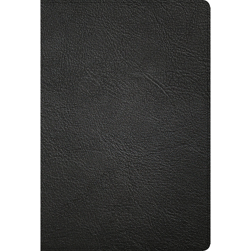 KJV Large Print Ultrathin Reference Bible, Black Premium Leather, Black-letter Edition, Indexed