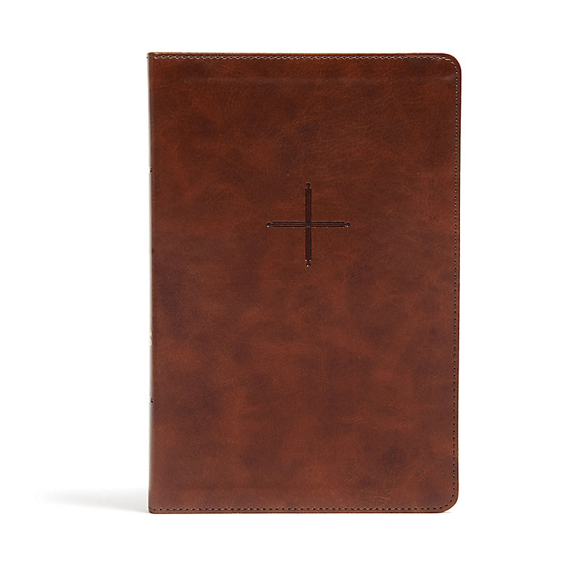 CSB Every Day with Jesus Daily Bible, Brown LeatherTouch