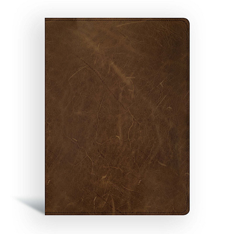 CSB Men of Character Bible, Brown Genuine Leather, Indexed