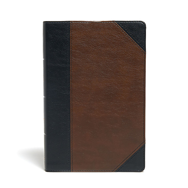 KJV Large Print Personal Size Reference Bible, Brown/Black Leathertouch Indexed