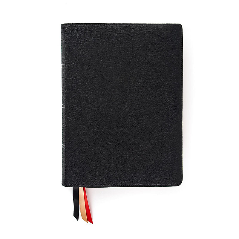 CSB Ancient Faith Study Bible, Holman Handcrafted Collection, Premium Black Goatskin