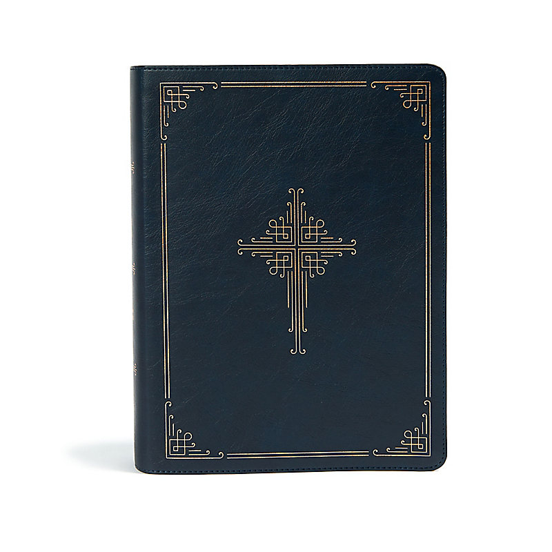 CSB Ancient Faith Study Bible, Navy LeatherTouch