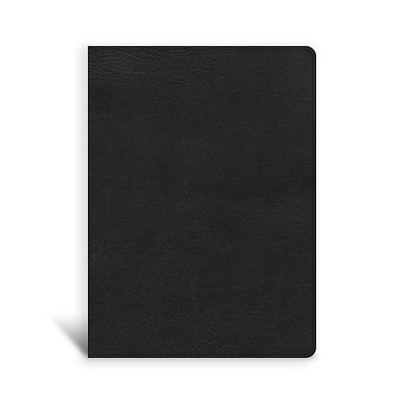 CSB Single-Column Wide-Margin Bible, Black LeatherTouch