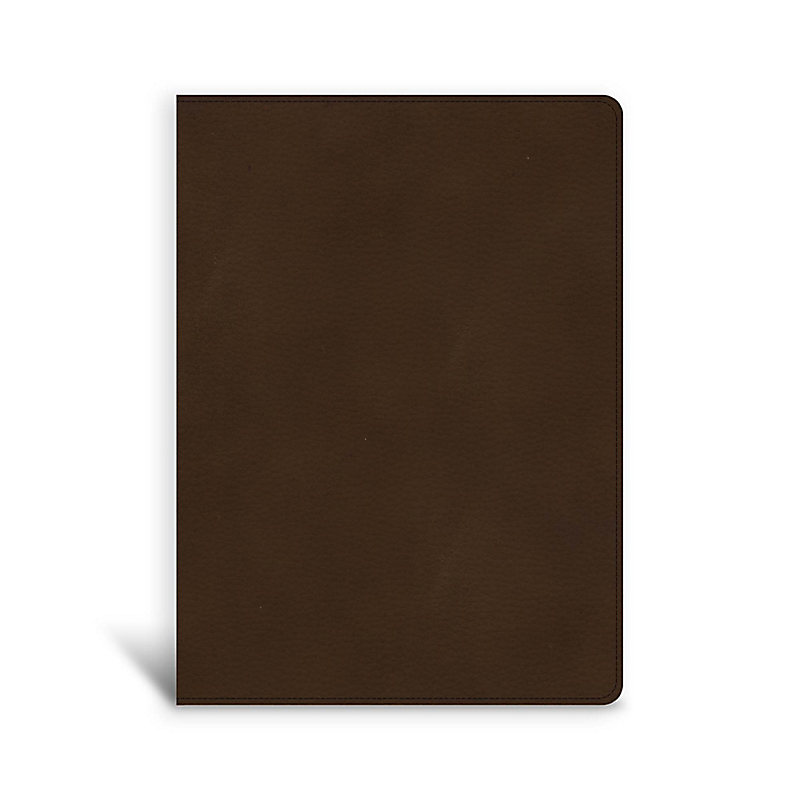 CSB Single-Column Wide-Margin Bible, Brown LeatherTouch