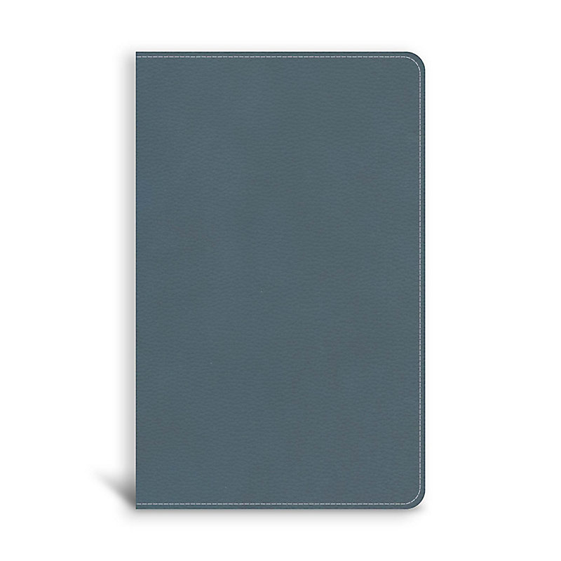 CSB On-The-Go Bible, Personal Size, Steel Blue LeatherTouch