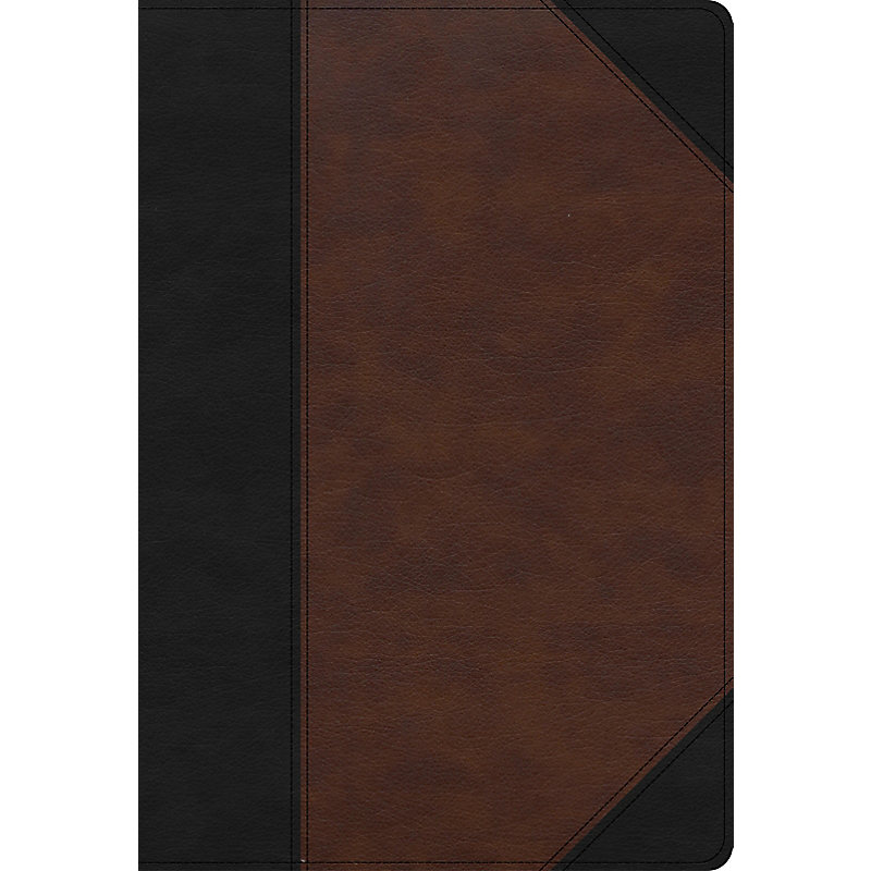 CSB Super Giant Print Reference Bible, Black/Brown LeatherTouch