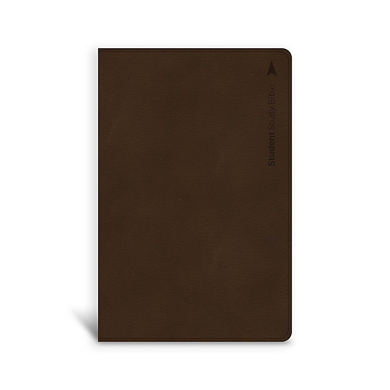 CSB Student Study Bible, Brown Leathertouch