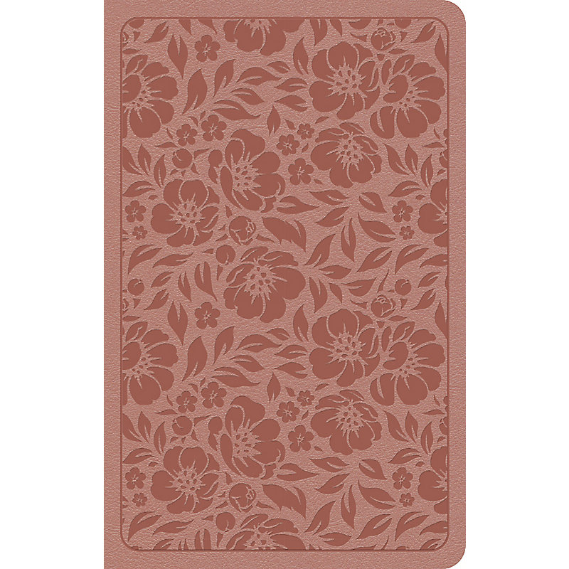 KJV Personal Size Bible, Rose Gold LeatherTouch