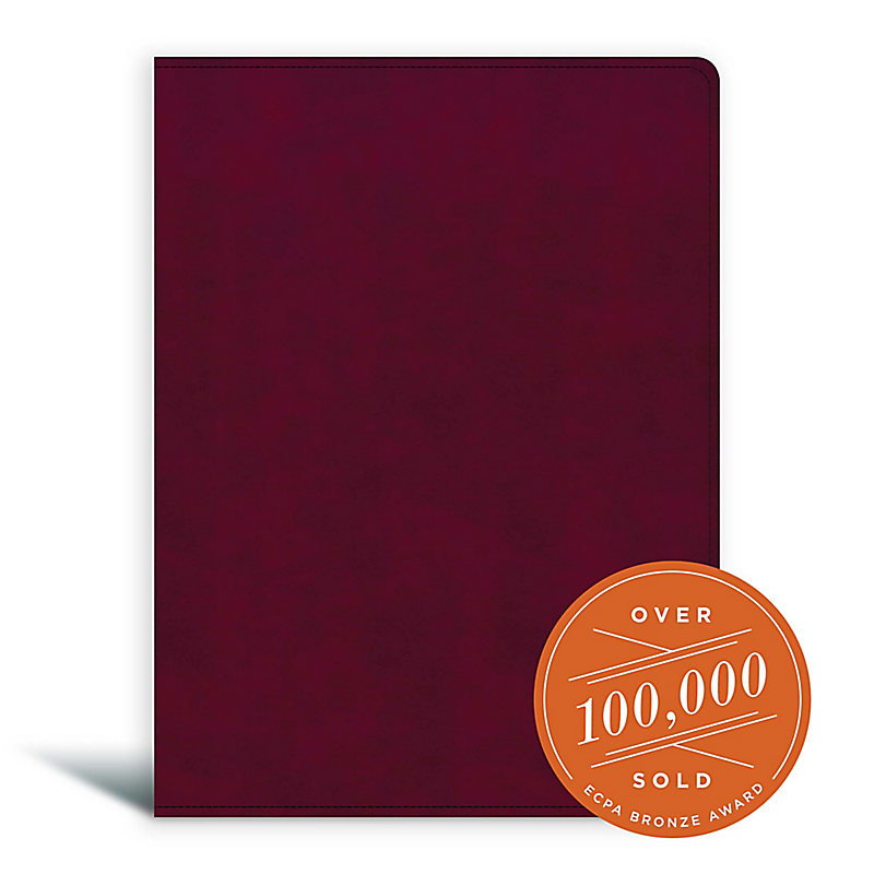 CSB Tony Evans Study Bible, Burgundy LeatherTouch