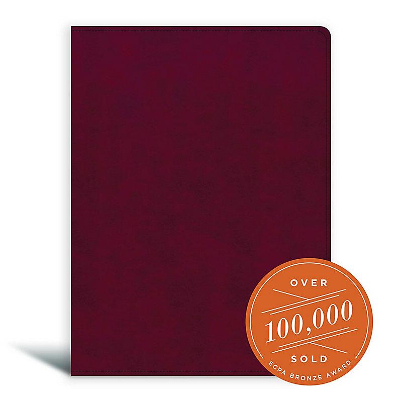 CSB Tony Evans Study Bible, Burgundy LeatherTouch Indexed
