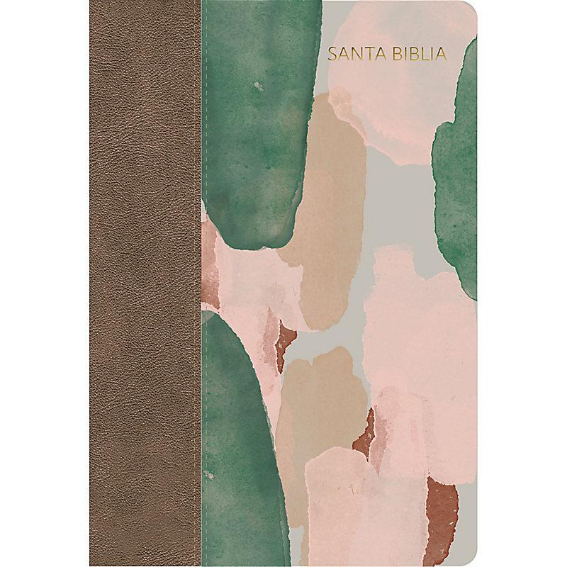 NVI Biblia Letra Grande Tamaño Manual multicolor, símil piel