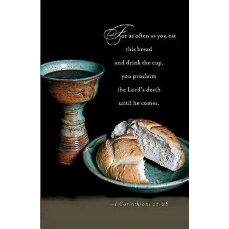 Knowing Christ Communion Bulletin (Pkg of 50)